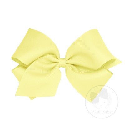 King Classic Grosgrain Bow- Light Yellow