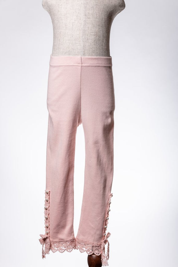 Pearl Side Detail Legging - Blush