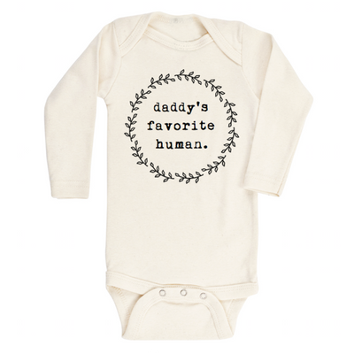 Daddy's Favorite Human- Long Sleeve Bodysuit