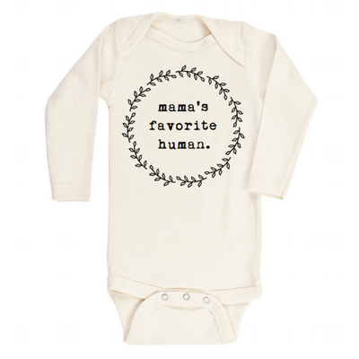 Mamas Favorite Human- Long Sleeve Bodysuit