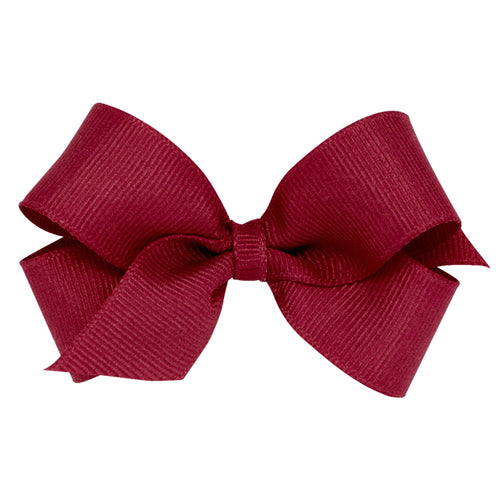 Mini Classic Crosgrain Bow- Cranberry