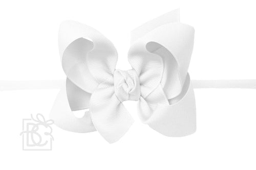 "Pantyhose Headband- Large 4.5"" Bow"