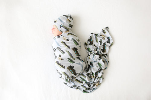Infant Swaddle And Beanie Set-Cash