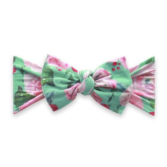 Printed Knot: Watercolor Mint