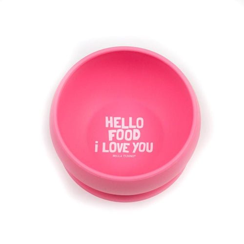 Hello Food I Love You Wonder Bowl - Pink