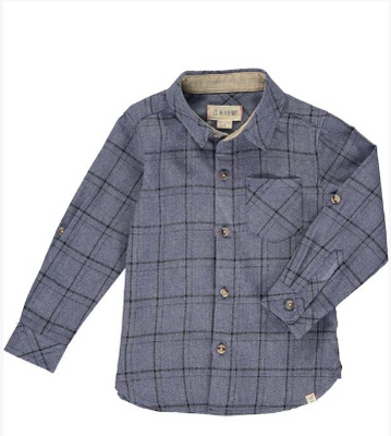 Blue and Grey Plaid Shirt (Child)