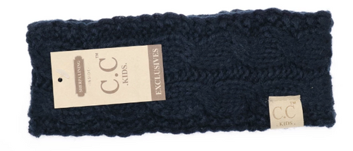Kids Solid Cable Knit CC Headwrap