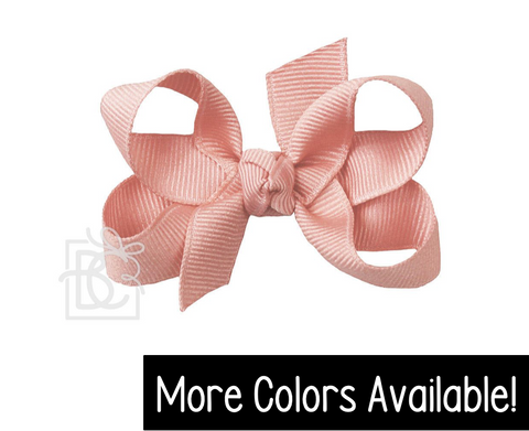 "Grosgrain Double Knot- Small 3"" Bow"
