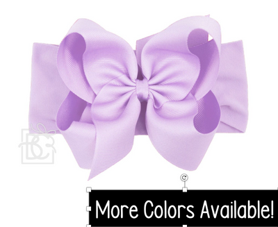 "Pantyhose Wide Headband- Huge 5.5"" Bow"