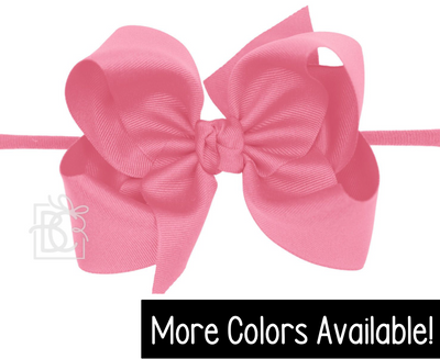 "Pantyhose Headband- Huge 5.5"" Bow"