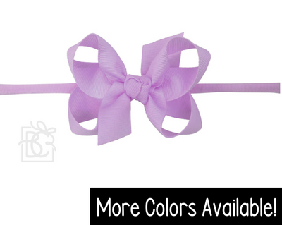 "Pantyhose Headband- Medium 3.5"" Bow"