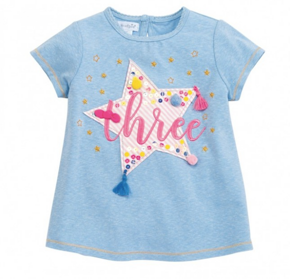 Three Birthday Star Tee