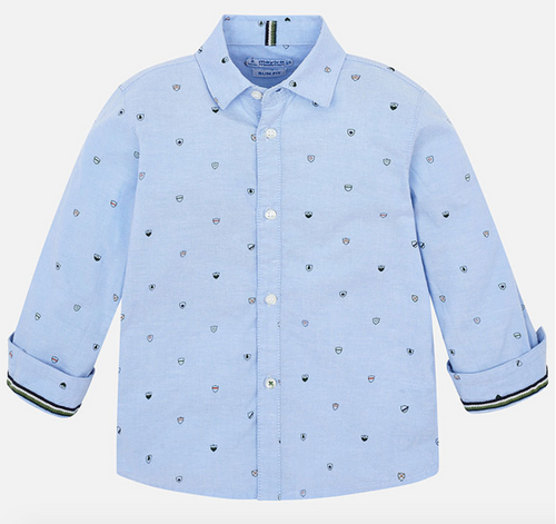 Long Sleeve Sky Blue Button Down