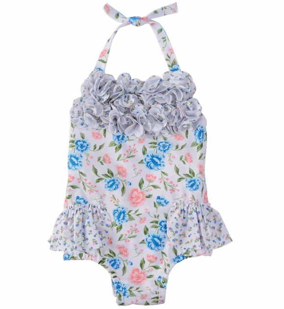 Floral Ruffle One Piece