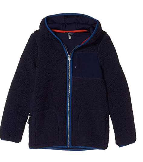 Zip Up Hooded Fleece- Navy