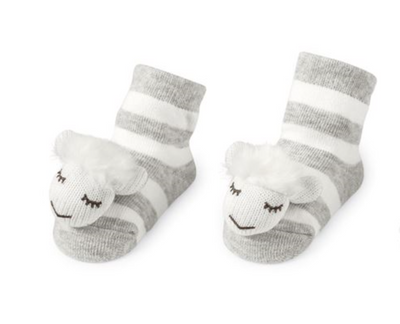 Sheep Rattle Toe Socks