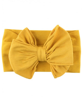 Golden Yellow Big Bow Headband