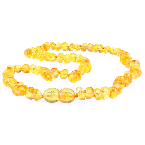 Adult Amber Necklace - Honey Polished Baltic Amber