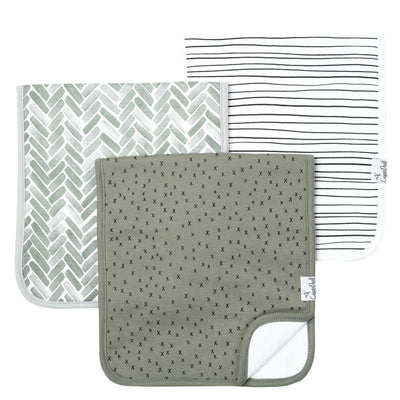 Set of Three Premium Burp Cloths - Alta