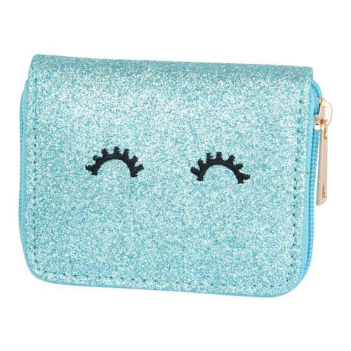 Mila and Rose Wallet - Aqua Glitter