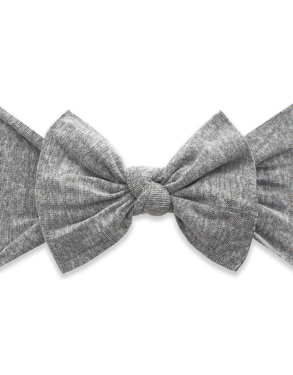 Patterned Knot- Heathered Grey