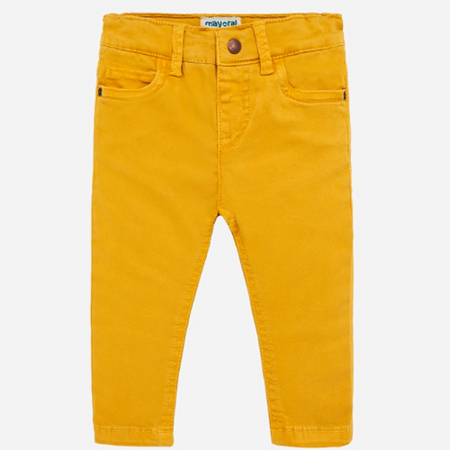 Boys 5-Pocket Slim Fit Pants - Corn