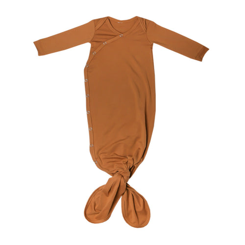 Copper Pearl Knotted Gown- Camel