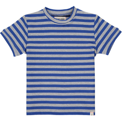 Royal Blue and Grey Stripe Tee