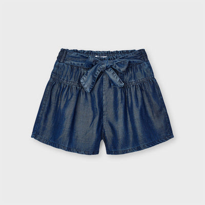 Dark Denim Loose Short Pants