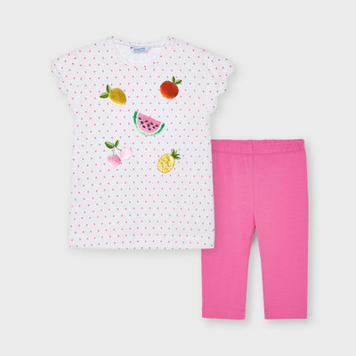 Camellia Polka-Dot Leggings Set