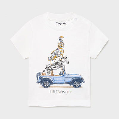 White Short Sleeve Friendship T-Shirt