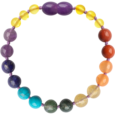 "5.5"" Gemstone Honey Chakra Bracelet"