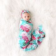 Eloise- Infant Swaddle and Headwrap Set