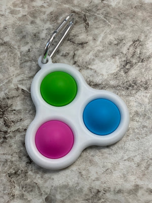 Fidget Toy- 3 Bubble Keychain