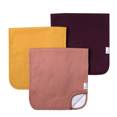 Set of Three Premium Burp Cloths - Jade