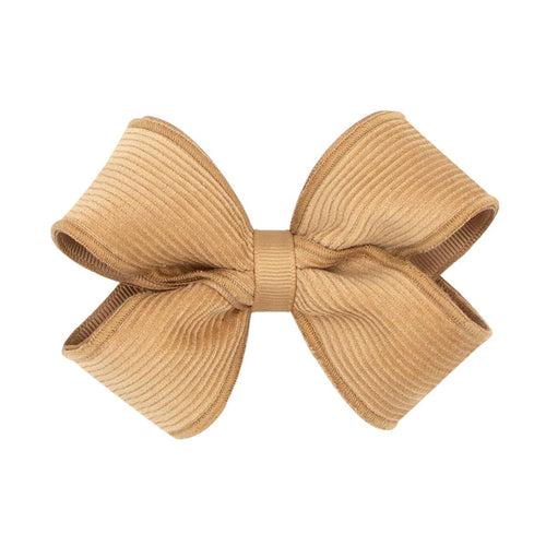 Small King Corduroy Overlay Bow- Tan