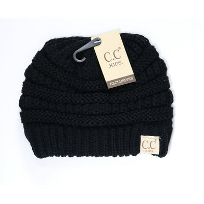 Kids Solid CC Beanie-Black