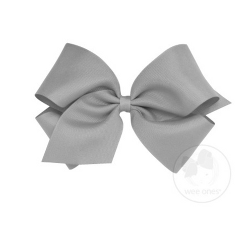 King Classic Grosgrain Bow - Gray