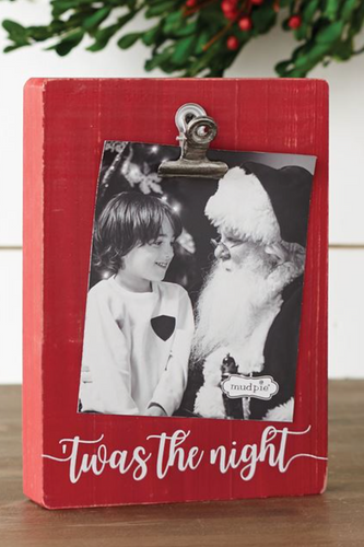 Christmas Block Clip Frame - 'Twas The Night