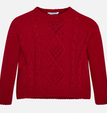 Mayoral Knit Pullover Sweater - Red