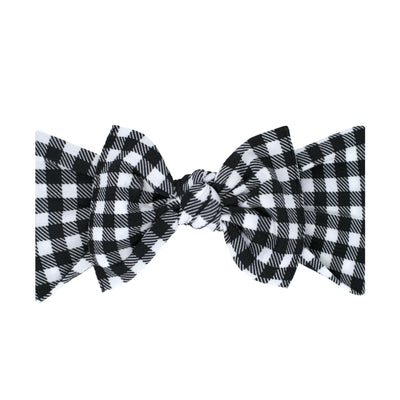 Printed Knot- Black Gingham