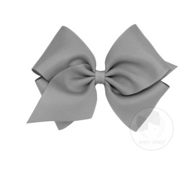 Mini King Classic Grosgrain Bow - Gray
