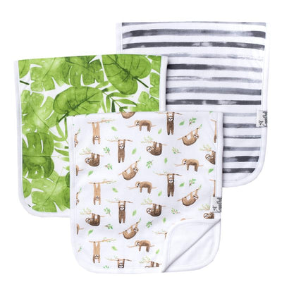Set of Three Premium Burp Cloths - Noah