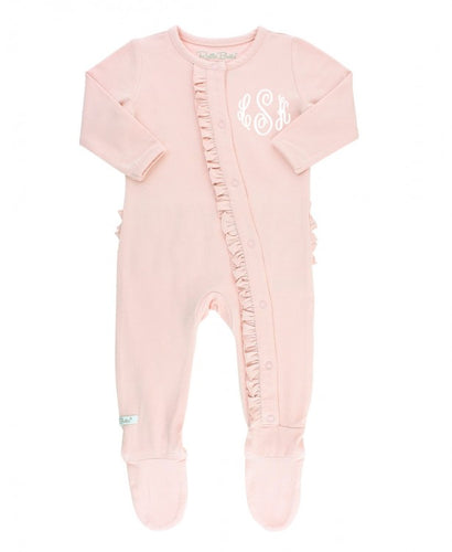 Ballet Pink Snuggly Ruffled Footed Pajamas