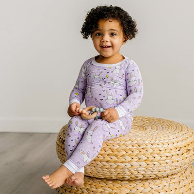 Lavender Bunnies Bamboo Viscos 2-Piece Pajama Set