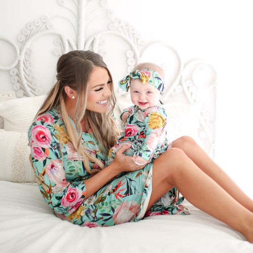 Tuscan Teal Mommy Robe