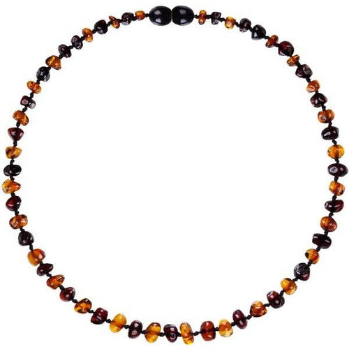 Amber Teething Necklace - Baroque Cherry Necklace