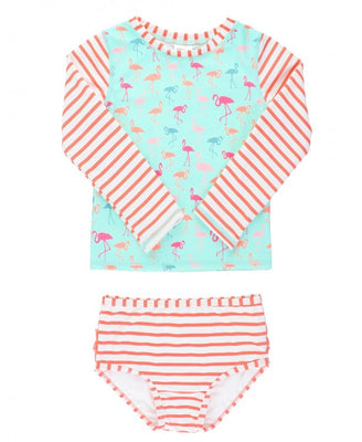 Flamingo Beach Stripe Long Sleeve