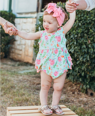 Running in Wildflowers Bubble Romper