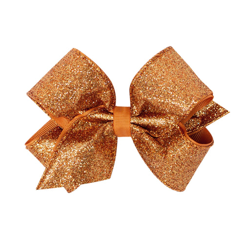 Medium Party Glitter Bow- Copper